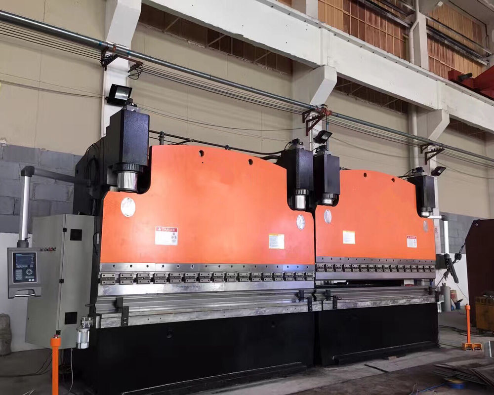 V Groove CNC Tandem heavy duty press brake For Bending Steel Plates 25mm 32000KN