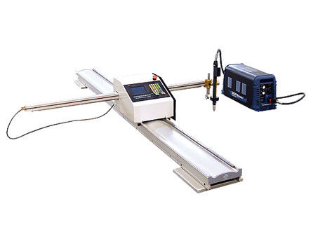CNC Portable Flame Cutting Machine , Light Pole Machine to Cut Light Pole Base Plate